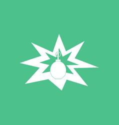 Icon bomb explosion vector