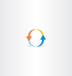 letter o arrow logo vector image
