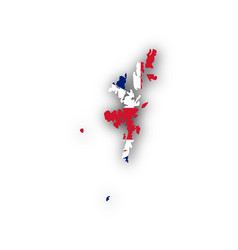 map and flag of shetland islands vector image vector image