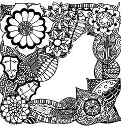 Ornate floral pattern vector