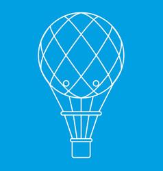 Retro helium air balloon icon outline style vector