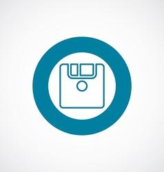 Save icon bold blue circle border vector