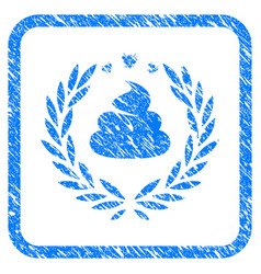 Shit laurel emblem framed grunge icon vector