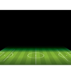 Soccer Field with Copy Space vector image vector image
