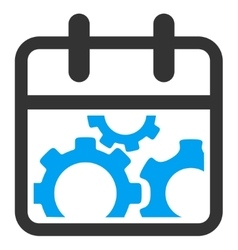 Technical date icon vector