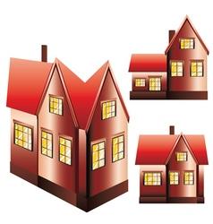 Three Houses Set vector image
