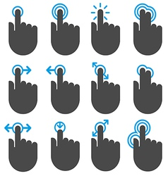 Touch icons vector