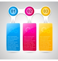 Trendy infographic template for business design vector image