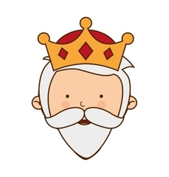 Wise man character icon vector