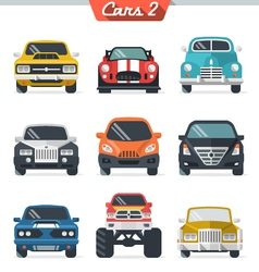 Car icon set 2 vector