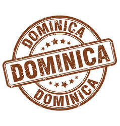 Dominica stamp vector