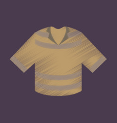 Flat shading style icon clothes t-shirt vector