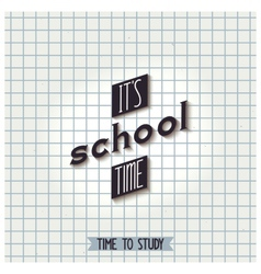 Its school time vector