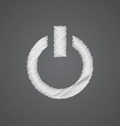 Power on sketch logo doodle icon vector