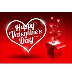 Modern bright valentines day gift vector