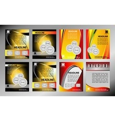 Flyer or cover template vector