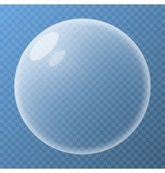 Bubble with glare vector