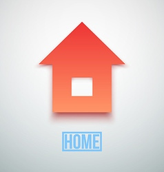 Abstract paper home icon isolated vector