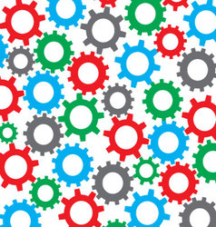 Cog wheel seamless color pattern vector