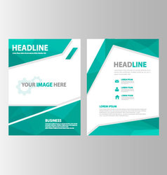 Green polygon annual report brochure flyer leaflet vector