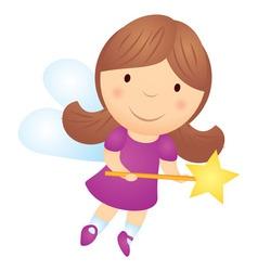 cartoon little girl fairy vector image