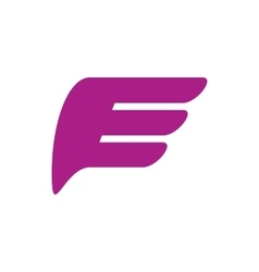 Purple wing icon simple style vector