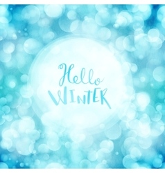 Hello winter card vector