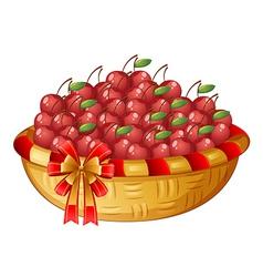 A basket of cherries vector image