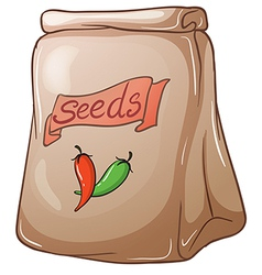 A pack of chili seeds vector