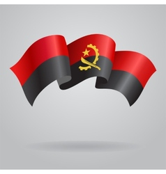 Angolan waving Flag vector image