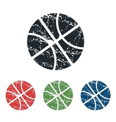 Basketball grunge icon set vector image vector image
