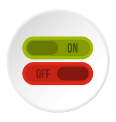 Button on and off icon circle vector