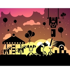 Circus night background vector image vector image