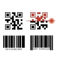 code bar design vector image