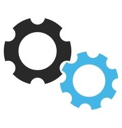 Engine components flat pictogram vector