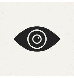 Flat Eye Icon vector image vector image