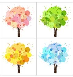 Four seasons tree vector image vector image
