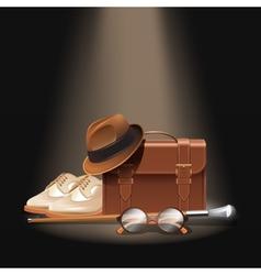 Gentleman accessories set vector