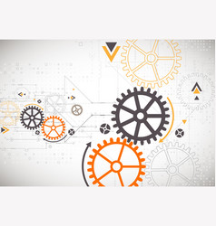 hi-tech digital technology and engineering theme vector image vector image