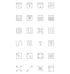 Line icons 2 vector image