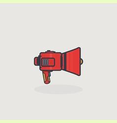 Line slyle loudspeaker icon vector image vector image