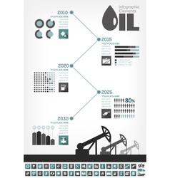 Oil industry infographic timeline vector