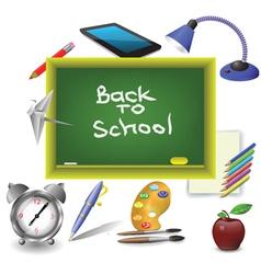 school green desk vector image