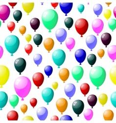 seamless balloons vector image vector image