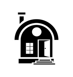 Small urban house icon simple style vector image