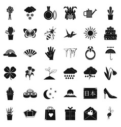 Snow icons set simle style vector