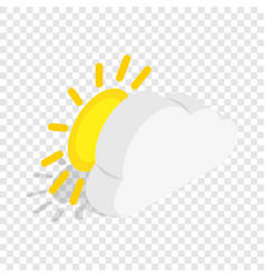 sun isometric icon vector image