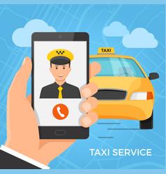 Taxi service concept vector