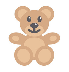 Teddy bear flat icon plush toy and baby vector