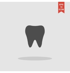 Tooth Icon Flat design style vector image vector image
